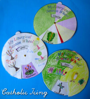 Liturgical Calendar: Printable Wheel Craft For Catholic Kids