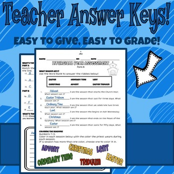 Liturgical Year Assessment Packet