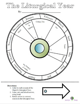 Liturgical Year Calendar Wheel