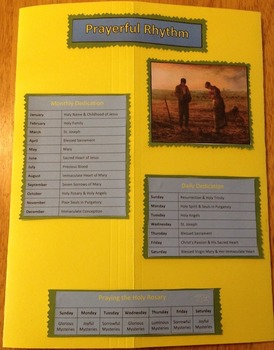 Liturgical Year Faith Folder lapbook