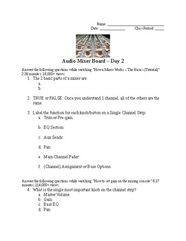 Live Audio - Audio Mixer - Sound Board - Part 2