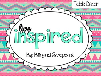 Live Inspired {Table Decor: Inspirational Quotes and Desk Helpers}