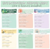 Live Instruction Schedule Cards for Online Learning