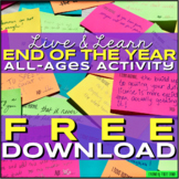 Free Download End of the Year or Any Time Live and Learn Activity