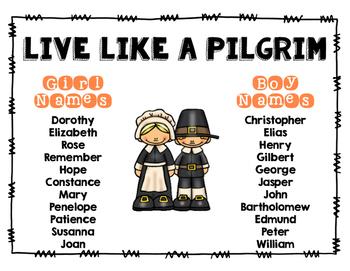 Live Like a Pilgrim: Pilgrim Names