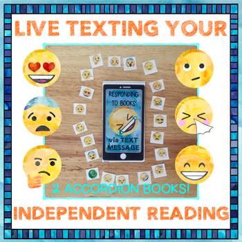 Live Texting Plot and Personal Response with Emojis—Two Accordion Books