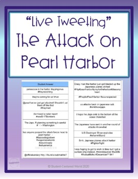 Live Tweeting the Attack on Pearl Harbor