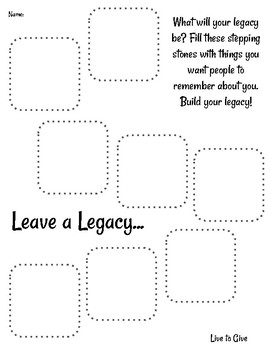 Live to Give - Leave a Legacy - 7 Mindsets