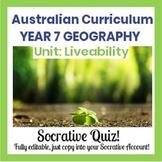 Liveability  Review Quiz - Socrative