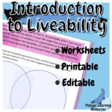 Liveability Geography Editable Worksheets Year 7 and 8 Aus