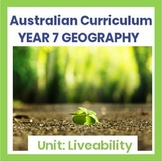 Liveability Intro & Assignment (Australian Curriculum - Year 7)