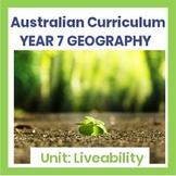 Liveability Assignment Bundle - (Australian Curriculum - Year 7) + Rubric