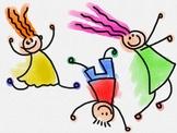 Lively Kids Watercolour Doodle Clip Art