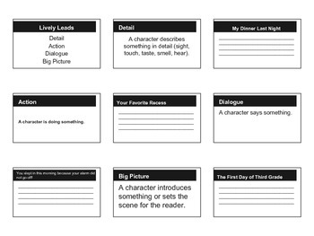 Lively Leads Handout Grade 3