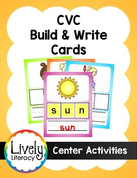 Lively Literacy CVC Build & Write Cards