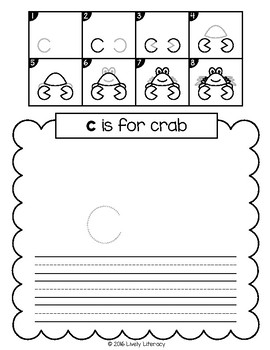 Lively Literacy Draw & Write (A-Z Directed Drawing) Pages
