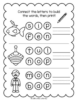 Lively Literacy Letter / Sound of the Week Phonics Worksheets - B