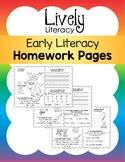 Lively Literacy Early Literacy Homework Pages