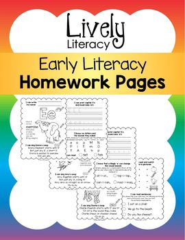 Lively Literacy Homework Pages