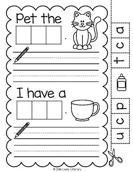 Lively Literacy Letter / Sound of the Week Phonics Worksheets - C