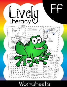 Lively Literacy Letter/Sound of the Week Phonics Worksheets - F