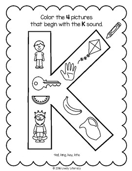 Lively Literacy Letter Sound Of The Week Phonics Worksheets K Tpt