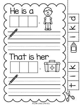 Lively Literacy Letter/Sound of the Week Phonics Worksheets - K