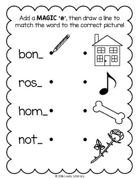 Lively Literacy Letter/Sound of the Week Phonics Worksheets - Long O