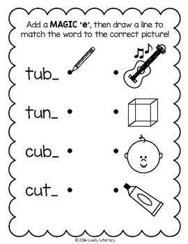 Lively Literacy Letter/Sound of the Week Phonics Worksheets - Long U