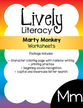 Lively Literacy Letter/Sound of the Week Phonics Worksheets - M
