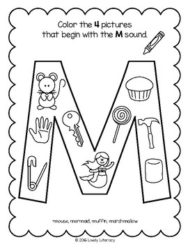 Letter M Alphabet Activities at EnchantedLearning.com