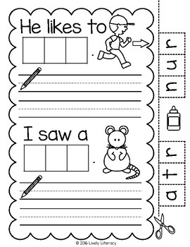 Lively Literacy Letter/Sound of the Week Phonics Worksheets - R