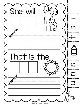 Lively Literacy Letter/Sound of the Week Phonics Worksheets - S