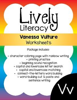 Lively Literacy Letter/Sound of the Week Phonics Worksheets - V
