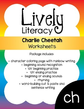Lively Literacy Letter/Sound of the Week Phonics Worksheets - ch