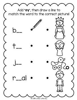 Lively Literacy Letter/Sound of the Week Phonics Worksheets - oy