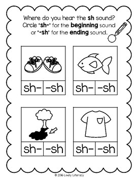 Lively Literacy Letter/Sound of the Week Phonics Worksheets - sh
