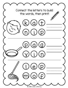 Lively Literacy Letter/Sound of the Week Phonics Worksheets - Short I