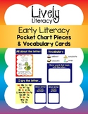 Lively Literacy Early Literacy Pocket Chart Pieces & Vocab