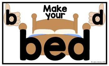 Lively Literacy Make Your Bed Poster (Legal-size) - for b & d reversal