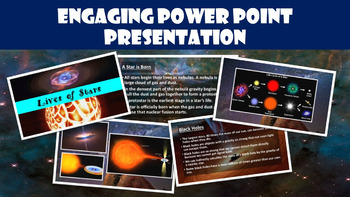 Lives of Stars No Prep Lesson with Power Point, Worksheet, and Activity