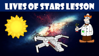 Lives of Stars No Prep Lesson with Power Point, Worksheet,