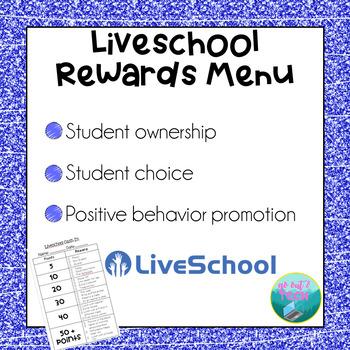 Liveschool Rewards Menu