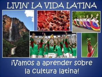 Livin' La Vida Latina - Fun Facts Loteria Game in Spanish