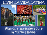 Livin' La Vida Latina - Fun Facts Loteria Game in Spanish
