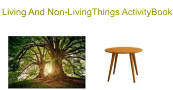 Smart Notebook Living And Non-Living Things Adapted Interactive Activity  Book