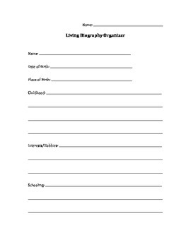 Living Biography Organizer