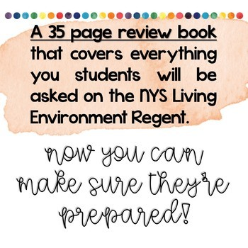 Living Environment Regent Review Book