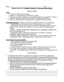 Living Environment Regents Review- Controlled Experiments