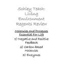 Living Environment Regents Review: Life Processes